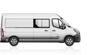 Renault master furgone doppia cabina