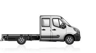 Renault master telaio cabina doppia